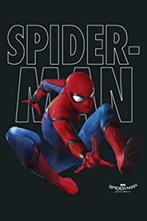 Spider Man Homecoming Outlined Epic Jump Pose: Notebook Planner -6x9 inch Daily Planner Journal, To Do List Notebook, Dail...