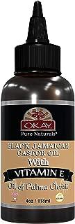 Okay | 100% Pure Black Jamaican Castor Oil | For All Hair Textures & Skin Types | Grow Healthy Hair - Treat Skin Condition...