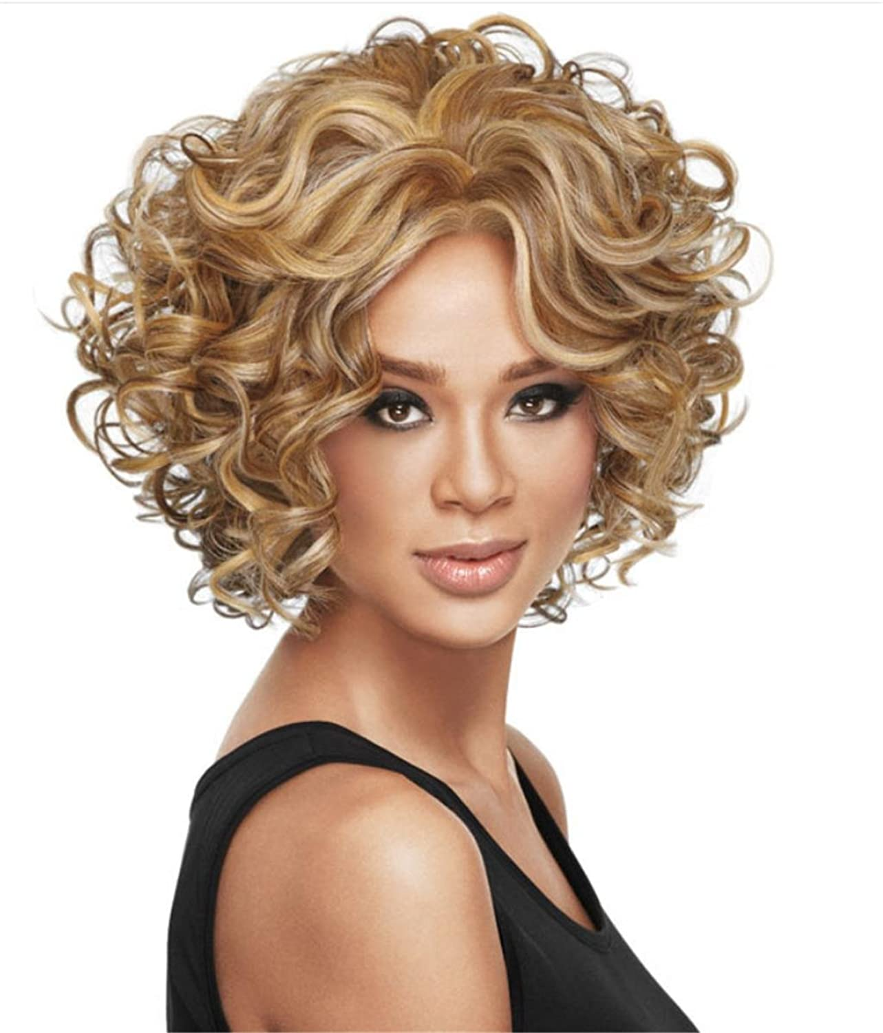 AN-LKYIQI Europe And The United States Fashion Lady schwarz Burst Head Short Hair Wig B06XY9BBY4 Abrechnungspreis  | Up-to-date-styling