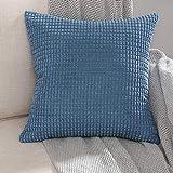 MIULEE 1 Stück Cord Weiches Massiv Dekorativen Quadratisch Überwurf Kissenbezüge Kissen für Sofa...