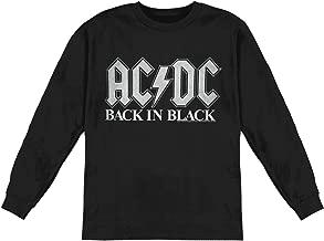 AC/DC Men's Back in Black 2 Long Sleeve Black