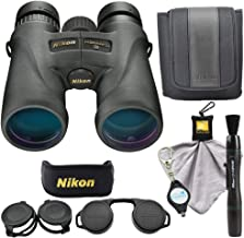 Nikon Monarch 5 8x42 Binoculars (7576), Black Bundle with a Nikon Cleaning Cloth, Lens Pen and a Lumintrail Keychain Light