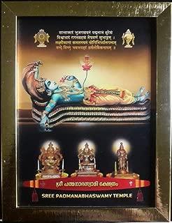 Depini 9 x 7 inches Framed Photo of Sree Padmanabha Swamy Ananthapadmanabha