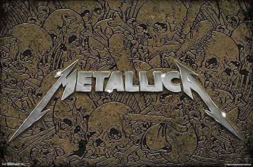 Studio B Poster Metallica - Skull Logo 36x24 Wall Art p7002