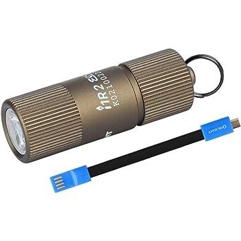 Paquete de 5 mini llavero con linterna LED ultrabrillante con etiqueta adhesiva Uniclife color negro