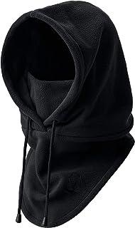 H HOME-MART Thermal Fleece Balaclava Hood Swat Ski Mask Bike Skullies & Beanies Winter Wind Stopper Face Hats Black