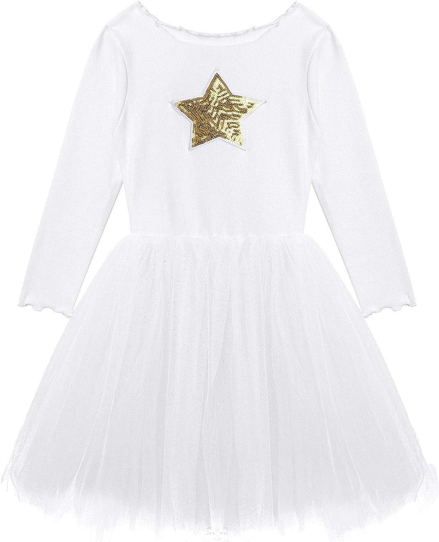 JanJean Toddler Little Girls Autumn Winter Long Sleeves Knit Sweater Tutu Dress Casual Clothes Bithday Princess Dress