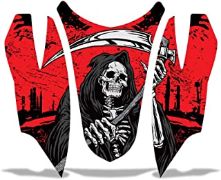 Arctic Cat Firecat Sabercat Sled Snowmobile Hood Nose Decal Graphic Kit Wrap REAPER RED