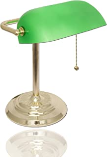 Best bankers lamp with green shade solid brass Reviews