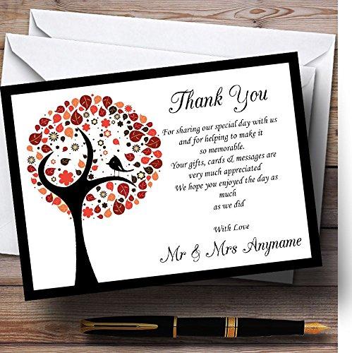 10 x Uitnodigingen Shabby Chic Vogelboom Bruin Vintage Zwarte Vogel Gepersonaliseerde Bruiloft Dank Kaarten