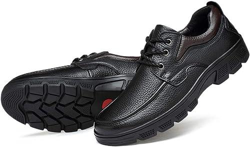 2018 Ceinture Ceinture Ceinture légère aseismatique légère pour Homme Semelle Formelle Oxford Décontracté chaussures (Warm Velvet Facultatif) (Couleur   Noir, Taille   39 EU) 585