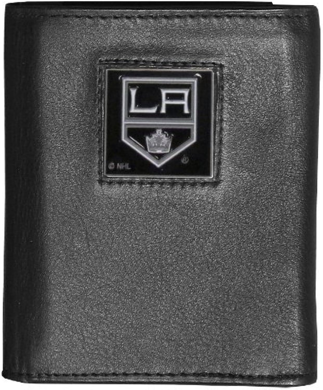 Siskiyou Sports HTR75BX NHL Los Angeles Kings Executive Genuine Leather Tri-Fold Wallet by Siskiyou