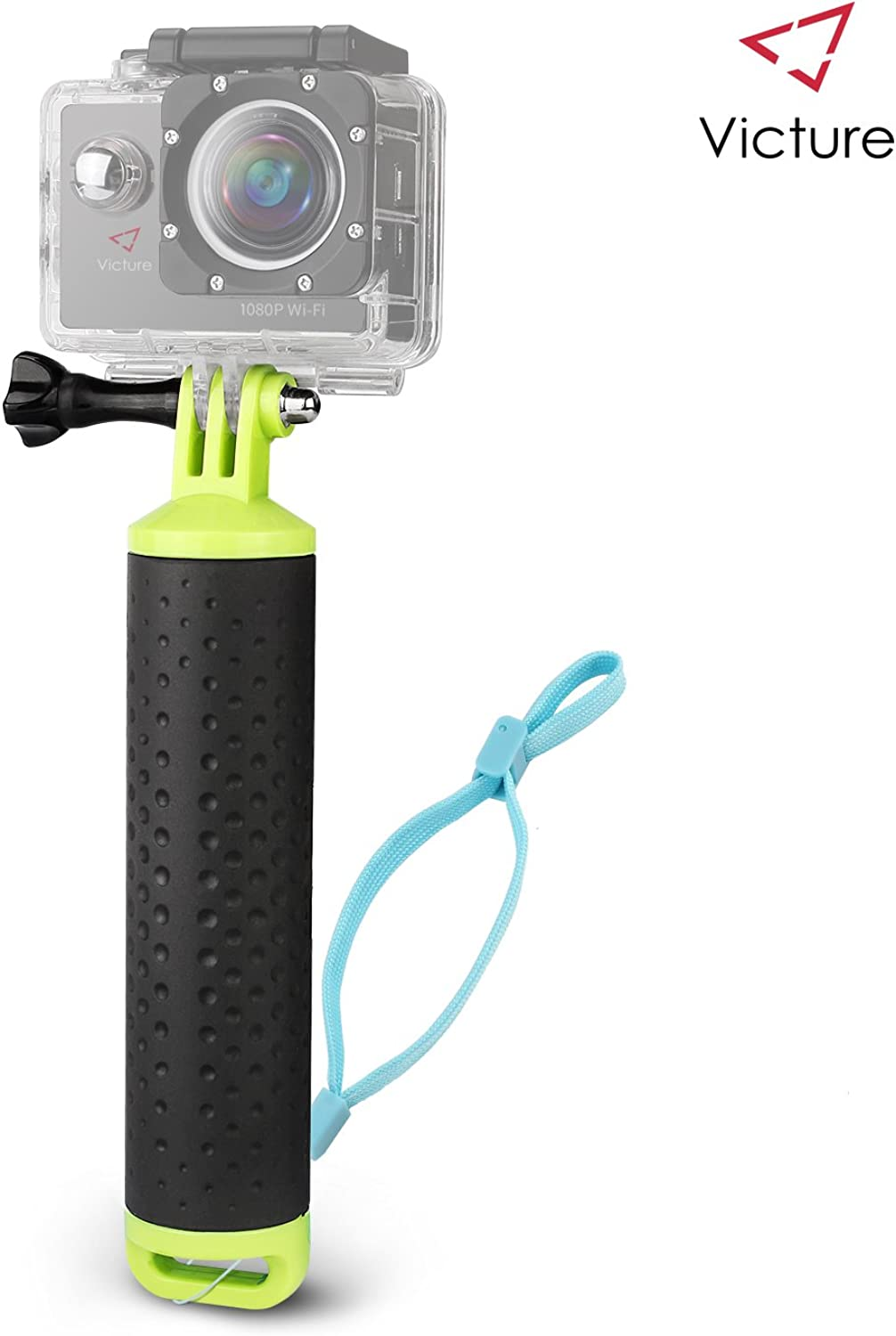 Victure Floating Hand Grip Waterproof Handle Water Sport Pole Diving Stick Monopod for APEMAN AKASO Action Cameras