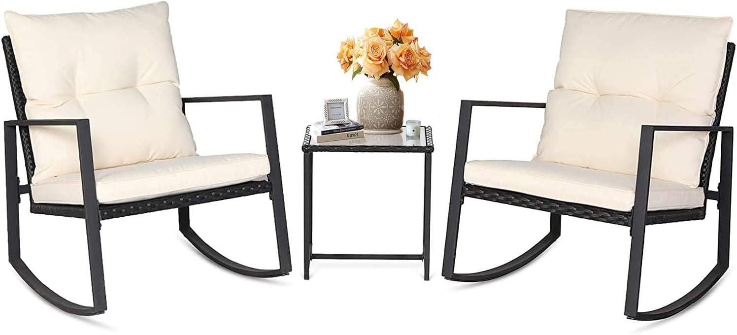 Oakmont 3-Piece Award-winning store Outdoor Rocking Chair Furniture Set Bistro Patio outlet