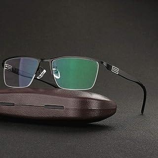 YANJ - Gafas de sol fotocromáticas Unisex para conducir, ClassicHalf Frame Eyewear para hombre y mujer 100% protección UV (Negro+150)