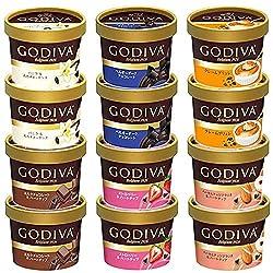 ゴディバ GODIVA カップアイス 12個セット(6種×各2個) スプーン付 ミニカップ 90ml