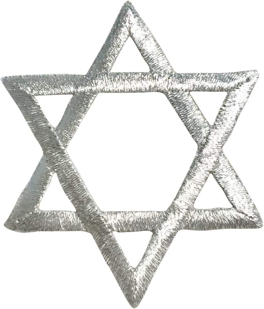 Silver - Hannukah Jewish Star of Max 67% OFF Recommendation David Iron P Embroidered on
