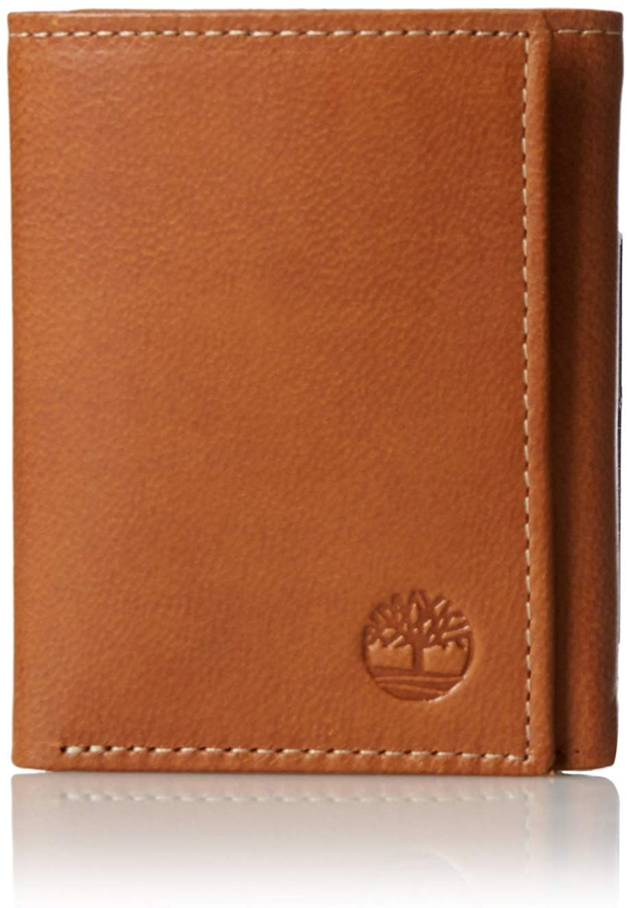 Timberland Leather Trifold Wallet Window