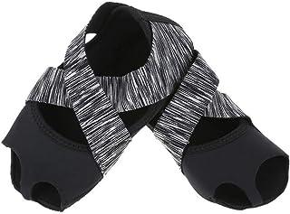 Tbest, Calcetines de Yoga Antideslizantes para Mujeres, Calcetines de Yoga Pilates Calcetines de Agarre de Yoga con puños Antideslizantes Zapatos de Entrenamiento de Baile con Dedos para Ball