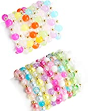 PinkSheep Beaded Bracelets for Kids, Baby Girl Teen Bracelet, 18PC, Party Favor