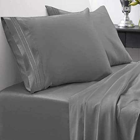 Hotel Luxury Cooling Sheets Set-3 Piece Starcast Bed Sheet Set Twin Size Soft Microfiber 1800 Thread Count Bedding Sheet Set Deep Pocket Breathable Wrinkle,Fade Resistant Navy