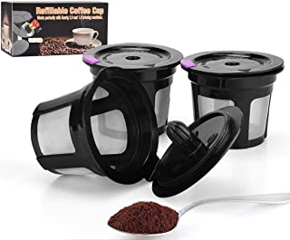 LivingAid Reusable K Cup Coffee Stainless Mesh Solo Filter Replacement for Keurig Brewers 1.0 or 2.0 Machine BPA Free (Black)