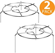 "INDIAN DECOR. 31 Tall Trivet Rack Stand, 3 15/16"" and 1 3/4"" Heavy Duty Stainless Steel Multifunction Basket, Pressure Cooker Steam Rack"