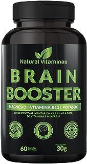 Complexo B, Biotina, Magnésio, Cálcio, Zinco e mais Vitaminas para Memória e Concentração - 1 Pote com 60 Cápsulas de 500m...