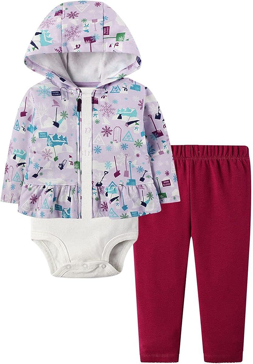 Baby Girl Clothes Set Jacket Hoodie Romper Pant Suit