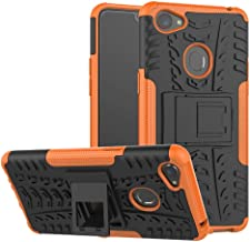 OPPO F7 Case, Ikwcase Heavy Duty Armor Tough Hybrid Shockproof Dual Layer Kickstand Protective Case Cover for OPPO F7 Orange