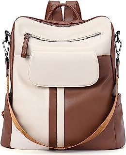 CLUCI Rucksack Damen Leder PU Elegant Lederrucksack Handtasche Frauen Rucksacktasche 2 in 1