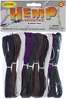 West Coast Paracord Hemp Variety Pack - Earth Tone Color - Jewelry Making Pack