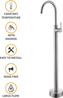 Kingston Brass KS266C Victoria 3-Inch to 9-Inch Wall Mount Tub and Shower Faucet Polished Chrome