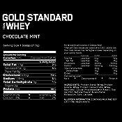 Optimum Nutrition Gold Standard 100% Whey Proteína en Polvo, Glutamina y Aminoácidos Naturales, BCAA, Chocolate y Avellana, 71 Porciones, 2.27kg, ...