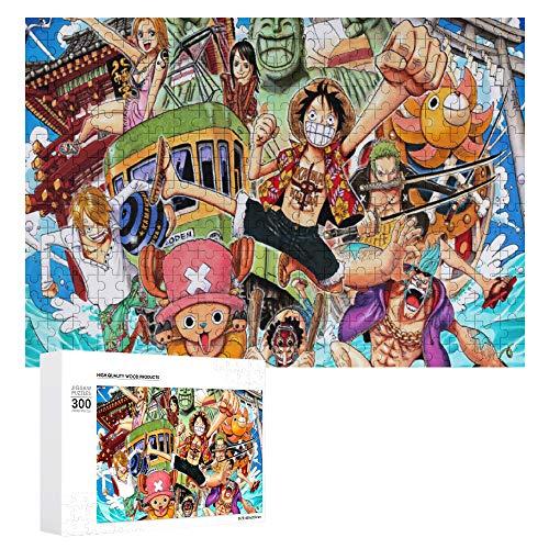 GD-SJK One Piece - Puzzle 3D, 1000 pezzi, puzzle educativo per bambini, gioco di puzzle, decorazione per la casa (un piece 3,40 x 28 cm)