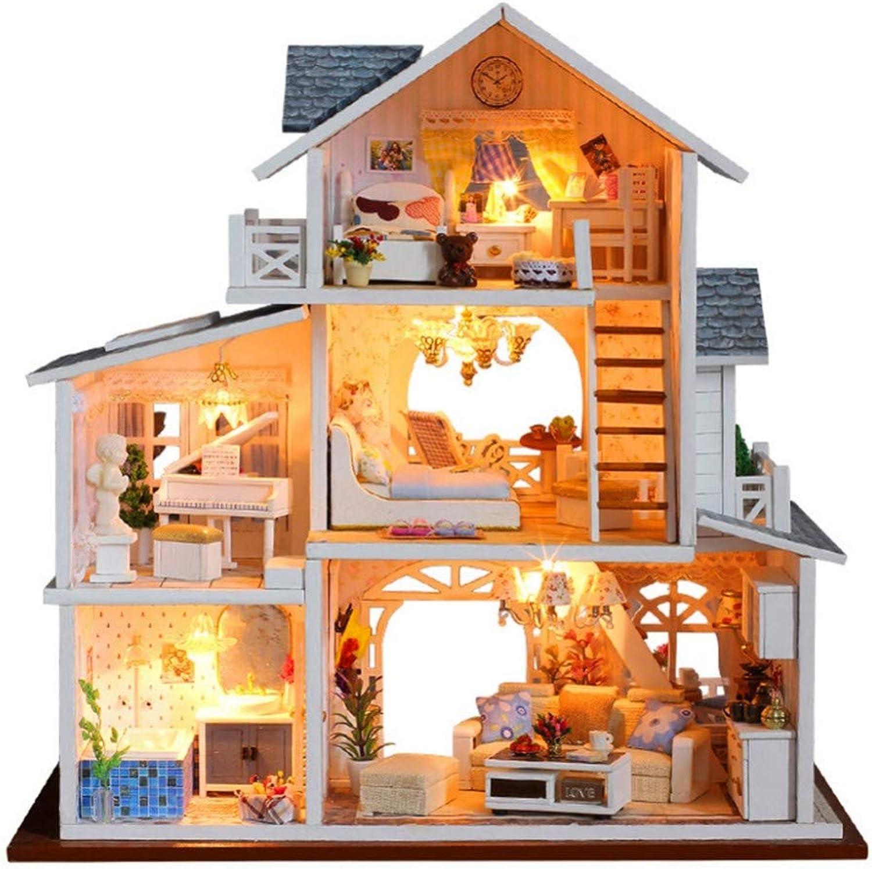 connotación de lujo discreta ANGION Casa Casa Casa de muecas Casa De Muecas De Bricolaje 3D Muebles De Casa De Muecas De Madera Kits De Juguetes Juguetes para Nios  mejor calidad