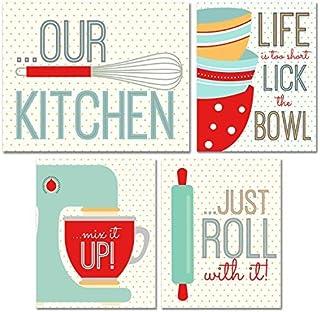 BigWig Photos Kitchen Wall Art Prints - Set of Four 8x10 Unframed Glossy Photographs [並行輸入品]