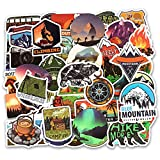 Outdoor Adventure Waterproof Stickers Outdoor Hiking Camping Style Vinyl Stickers for Luggage Refrigerator Guitar Skateboard