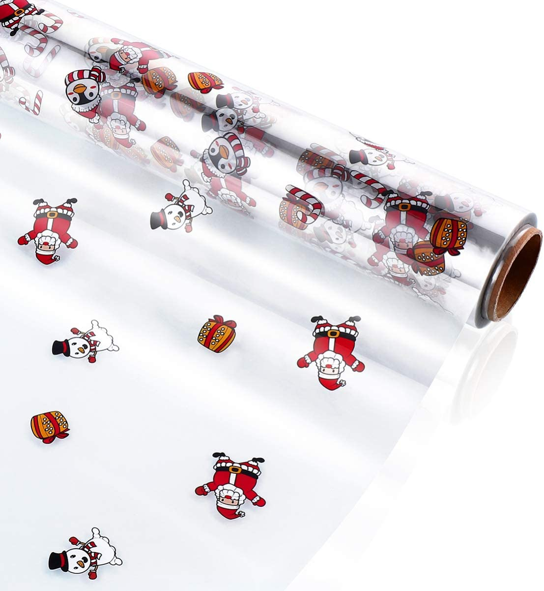 TOYANDONA Cellophane Wrap Spring new work one after another Bargain Roll Christmas Bags Cello Claus Santa