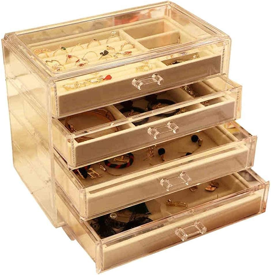 erddcbb Jewellery Storage Box Ranking TOP13 Organiser New York Mall Female for Drawer 3 with