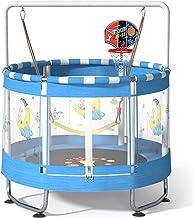 Trampoline voor Kinderen, Indoor & Outdoor Kleine Peutertrampoline met Basketbalring, Schommels, Behuizing, Fitness Reboun...