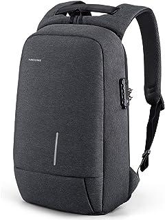 """Kingsons Backpack for Men Lightweight Tsa lock anti theft backpack 15.6"""" USB Charging Port Slim Travel Laptop Backpack"""