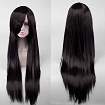 Ladies Black Long Straight Hair Wig 80cm