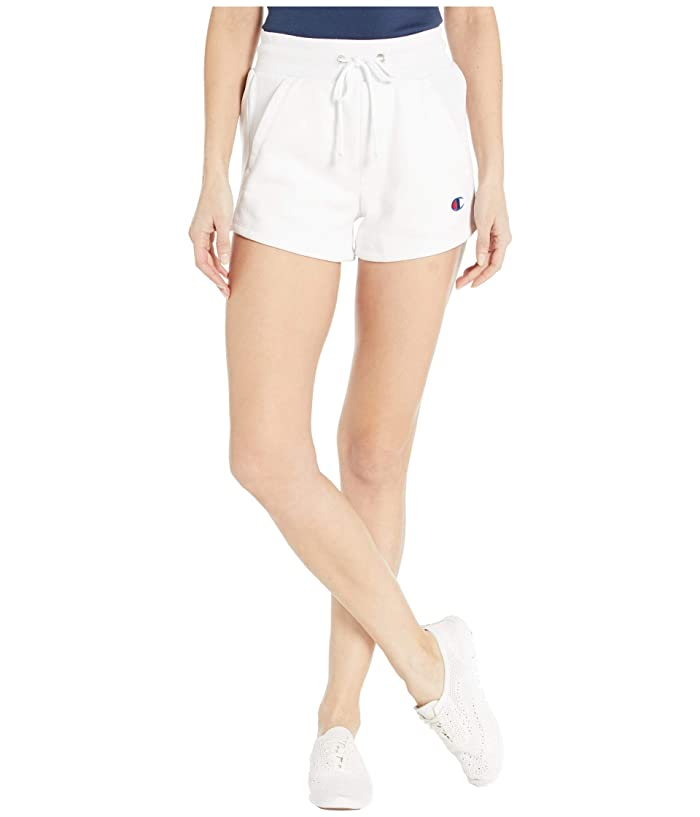 Vintage High Waisted Shorts, Sailor Shorts, Retro Shorts Champion LIFE Reverse Weaver Shorts White Womens Shorts $24.97 AT vintagedancer.com