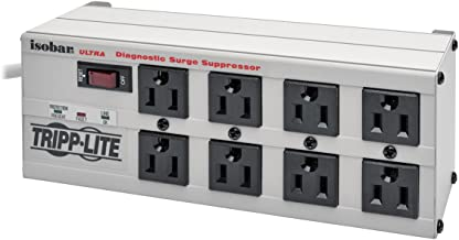 Tripp Lite Isobar 8 Outlet Surge Protector Power Strip, 12ft Cord, Right-Angle Plug, Metal Lifetime Limited Warranty & $50,000 INSURANCE (ISOBAR8ULTRA)
