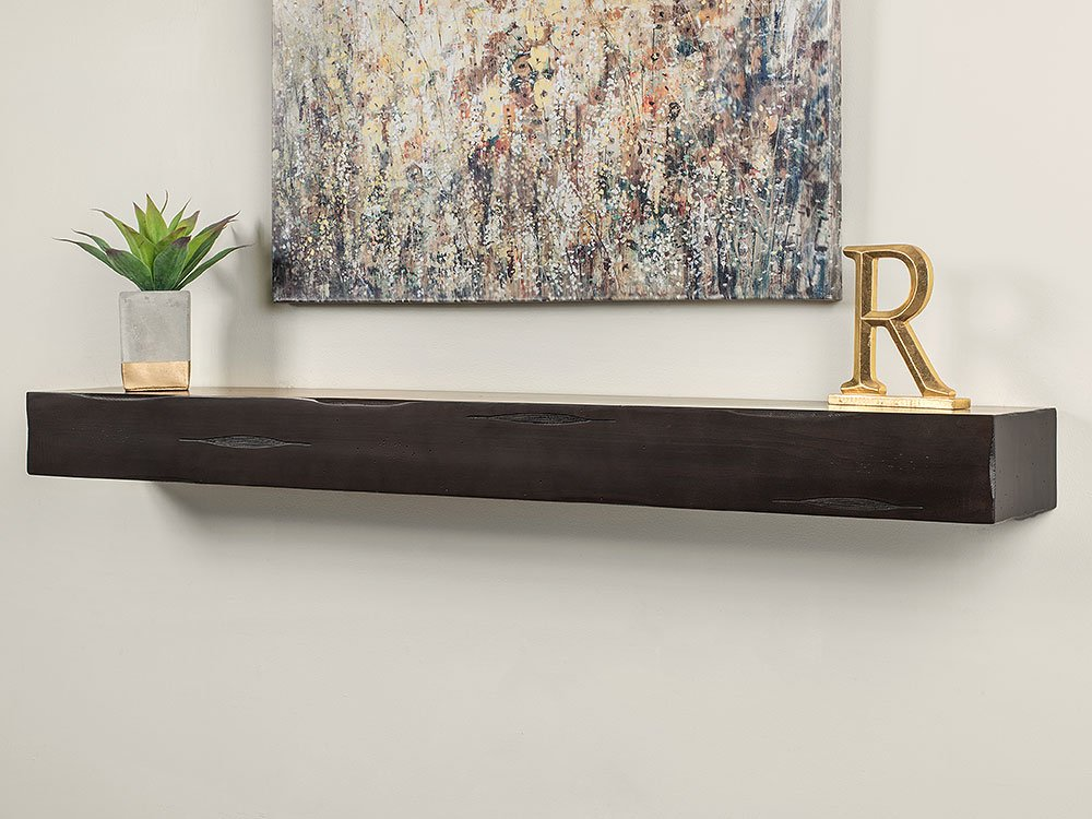 Amazon Com Breckenridge 48 Inch Fireplace Mantel Shelf Espresso Distressed Furniture Decor