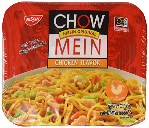 Nissin Chow Mein Chicken Flavor oz, 4 Ounce, (Pack of 1)