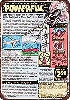 ブリキ看板用のアルミ金属看板1952強力な小さな電気モーター壁看板面白い鉄絵ヴィンテージ金属プラーク装飾警告看板バーパークのアートワークポスター