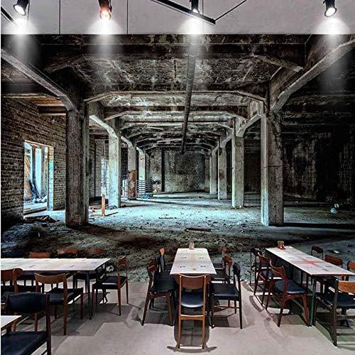 Retro nostálgico papel tapiz 3D estéreo personalidad pared tela blanco y negro graffiti papel pintado estilo industrial mural r papel pintado a papel pintado pared dormitorio autoadhesivo-430cm×300cm