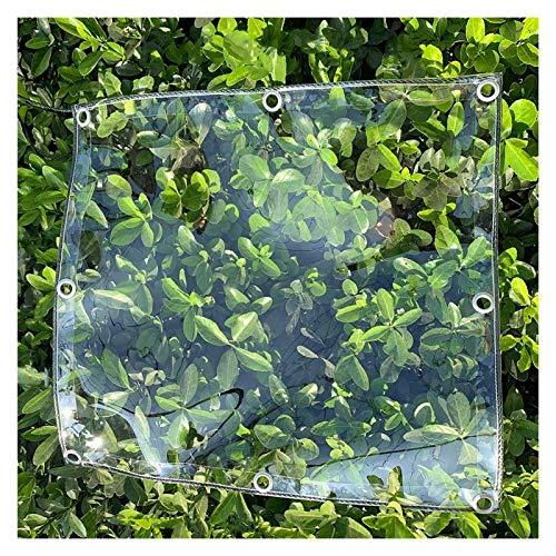 JJXL Lona Resistente, Lona Impermeable Transparente De Invernadero Toldo De Planta Plegable De Aislamiento para Camping Pesca Jardinería Personalizable (Color : Clear, Size : 3X4M)